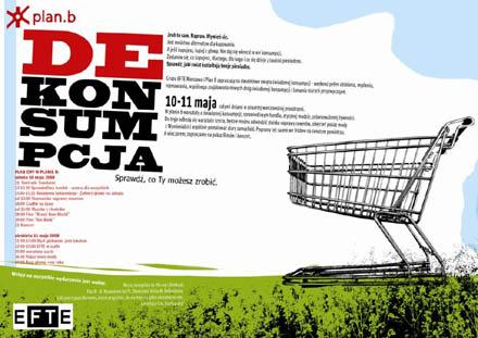 Dekonsumpcja - plakat informacyjny